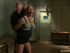 Mia Lelani deepthroats and gets stunningly fucked in BDSM vid tube porn video