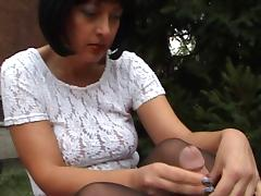 Pantyhose Wank Part 3 with cumshot H57004 tube porn video