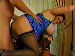 Sexy BBW with Boobs and stockings tube porn video