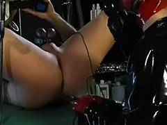 Gasmask Dominant Bitch electro play tube porn video