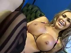British blond bitch in some other FFFM foursome in nylons tube porn video