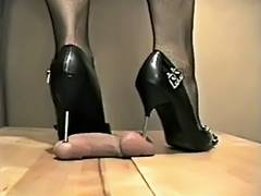 hotlegs high heel rod and ball trample tube porn video