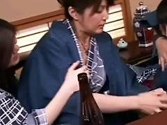 Japanese Lesbians videos. Japanese lesbian orgy includes some strap on sex