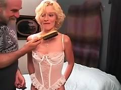 Slinky golden haired mother i'd like to fuck receives a hard flogging from old man tube porn video