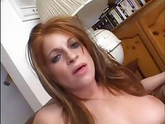 Small Titted Redhead Slut Gets Fucked Hard On Sofa tube porn video