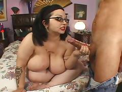 Nerdy Four Eyed Big Tit Hairy BBW Goth Rozzlynn tube porn video