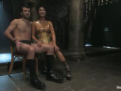 Kinky Mika Tan fingers and toys guy's ass in femdom video tube porn video
