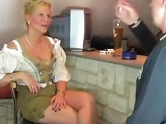 In Dirndl drilled tube porn video