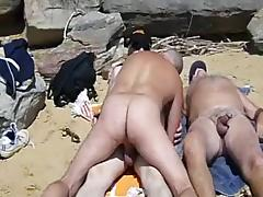 beach 3some tube porn video