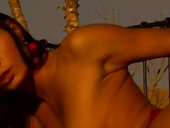 Black Angelika and Lucy Belle Fucked by Two Cocks on the Rooftop tube porn video