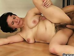 He picks up and fucks her old shaggy snatch tube porn video