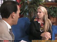 Big Breasted Blonde MILF Carolyn Reese Loving the Hardcore Fuck tube porn video