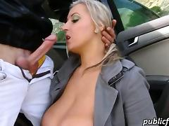 Big boobs Euro Cristal Swift public fuck tube porn video