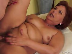 Granny masturbates and then gets balled tube porn video