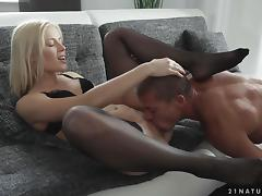 Blonde Babe in Sexy Stockings Having Fun Getting Fucked Hard tube porn video