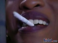 Kenya was cum thirsty so she got down on her knees tube porn video