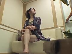 Perfect Japanese babe banged in voyeur massage video tube porn video