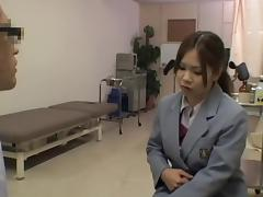 Kinky hot medical exam for a smoking hot Japanese gal tube porn video