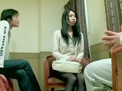 Hairy Jap slut gets a big load in Asian hardcore video tube porn video