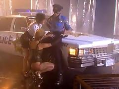 POlice officer is fucking two whores on the street tube porn video