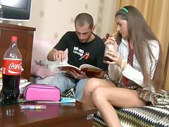 Hard anal sex with a pretty schoolgirl scene 1 tube porn video