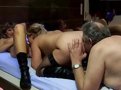 Hardcore chubby babes are banging with old fucker tube porn video