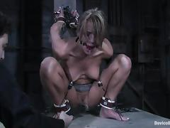 Sexy Holly Wellin gets her ass and pussy stuffed in BDSM vid tube porn video