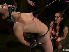 Hot Amber Rayne gets whipped and then toyed with a vibrator tube porn video