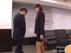 Some hot poses with a sassy office girl Maki Hokujo tube porn video