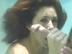 Miss Isabella Soprano gives Underwater BJ tube porn video