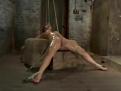 Baylee Lee enjoys being tormented in a cellar in BDSM scene tube porn video