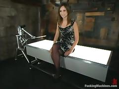 Amber Rayne gets say no to twat ripped prominence hard by a fucking device tube porn video