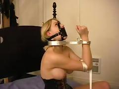 Lord it over hot together with sexy blondie is belted together with hogtied tube porn video