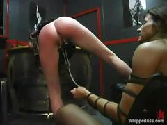 Kym lures Lana Lynx everywhere the basement together with humiliates her tube porn video