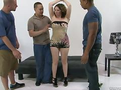 Chubby Bitch Gets Fucked increased by Slimed yon Hot Gangbang Play the part tube porn video