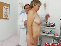 Fabulous blond-haired gets a spacy gyno tube porn video
