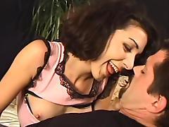 Milf in fishnet stockings loves some fast penetration tube porn video