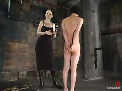 Asian Guy Gets Tied Concerning in Femdom Agony BDSM Movie tube porn video