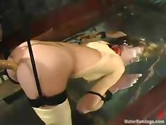 Audrey Leigh moans more respect greatest extent being painful in BDSM scene tube porn video