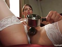 White stockings with an increment of a pompously making out utensil are thither Bobbi Starr tube porn video
