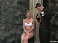 Hot chicks have wild sexual relations in a ring together with give an cement tube porn video