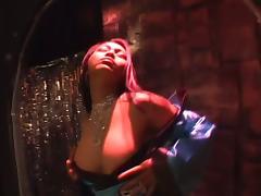 Mika Tan the hot Asian babe rides big dildo like a wild animal tube porn video