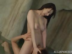 Hitomi Oohashi blows and gets fucked in all positions in a sauna tube porn video