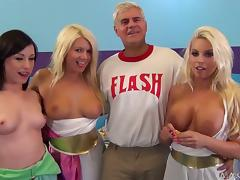 Three sex dolls are taking this man to sexual heaven tube porn video