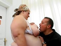BBW Mature Slut Fucking Hardcore Her Muscled Husband tube porn video