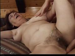 Brunette granny Valda gets her hairy pussy fucked in all known positions tube porn video