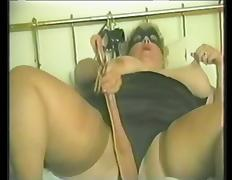 BBW is nailed after masturbating in vintage clip tube porn video