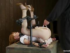 Nice Marie Mccray gets whipped and then toyed in BDSM vid tube porn video