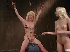 Kinky blond angels start with a 69 inside the cage tube porn video