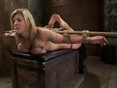 Big tittied Sara Jay gets toyed and tortured with a mousetrap tube porn video